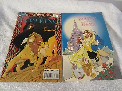 Disney The Lion King And Beauty And The Beast Comic Book Lot