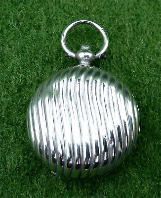 Great Looking Victorian Solid Silver Sovereign Case Fob -  B'ham 1891