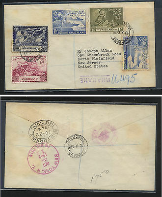Swaziland  50-53  UPU stamps first day cover  1949                      KEL09131