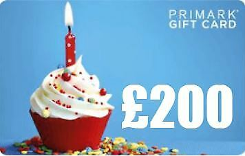 £200 Primark (Official) Gift Card