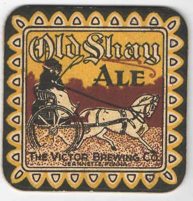 Old Shay Ale Coaster, Victor Brewing Co., Jeanette, PA