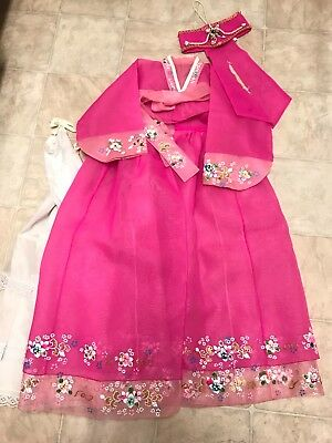 Korean traditional costume Hanbok floral dress for girl size 6