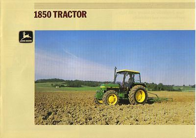 John Deere 1850 Tractor Brochure. Immaculate Condition.