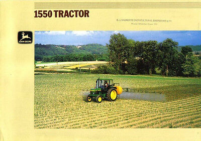 John Deere 1550 Tractor Brochure. Mint Condition.