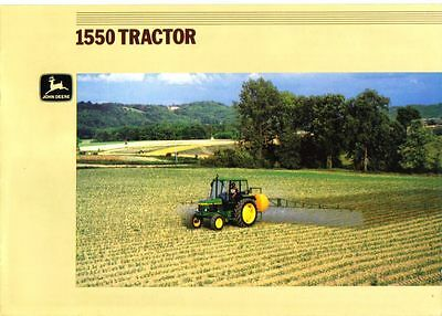 John Deere 1550 Tractor Brochure. Excellent Condition.