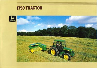 John Deere 1750 Tractor Brochure. Excellent Condition.