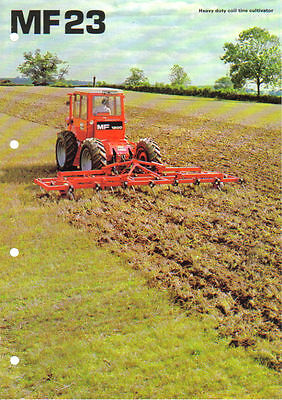 Massey Ferguson 23 Coil Tine Brochure on 1200 Tractor. Excellent Condition.