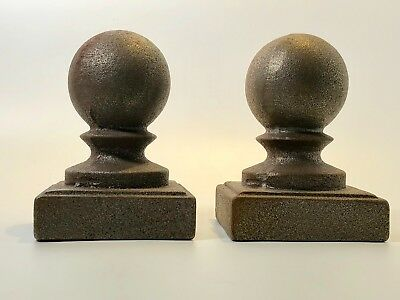 Cast Iron Finial Topper Ball Architectural Antique Set c