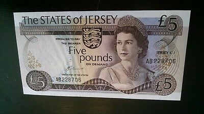 The States Of Jersey 5 Pounds Note - GEM PERFECT AB228706