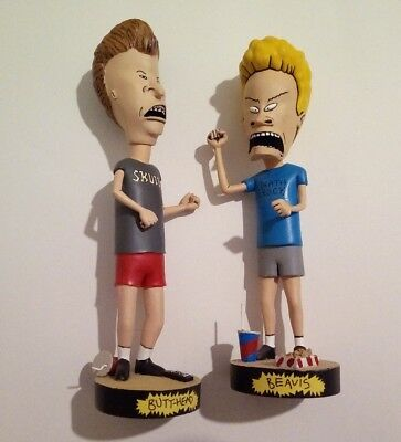 NECA Beavis and Butthead Head Knockers Bobbleheads RARE Exc Condition