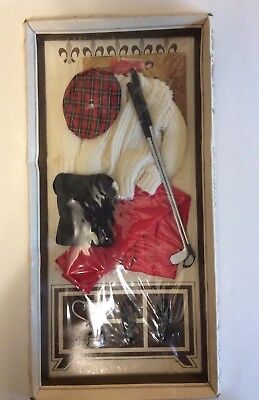 Vintage 60's Remco Dr. John Littlechap Doll Golf Outfit NRFB