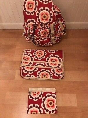 Le SportSac Backpack ~ Laptop Padded Case ~ Pens/Pencils Bag ~ Flowers ~ 3 SET