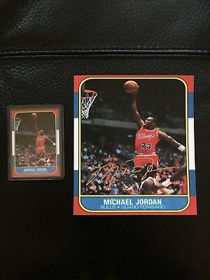 1986-1987 Fleer Michael Jordan Chicago Bulls #57 Basketball Card Reprint Jumbo