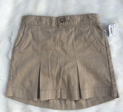 Old Navy Girls XS School Uniform Tan Skort