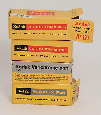 Kodak Verichrome and Royal Pan Film, Expired - 4 Rolls Vintage Film