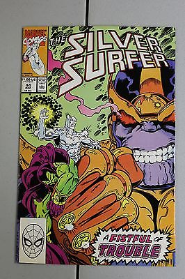 Silver Surfer #44 1990 VFNM 9.0 1st Appearance Infinity Gauntlet Avengers Movie