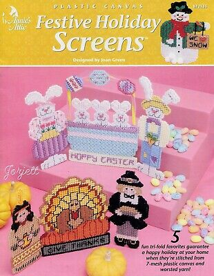 Festive Holiday Screens, Annie's plastic canvas patterns