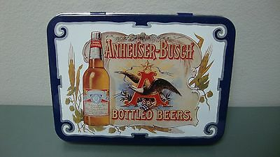 1988 Anheuser Busch Bottled Beer 2 Decks Playing Cards with storage Tin NOS