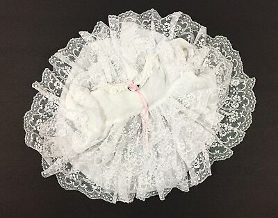 Vintage Jo Lene Baby Girl Dress Full Circle Layers Of Lace Sz 6-9 Month USA Made