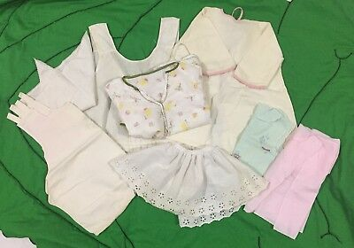 Mixed 8 piece Lot Antique Vintage Baby Doll Toddler Clothing Dress Slip Romper