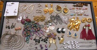 Mixed Lot Of 39 Pairs Of Earrings,some Vintage