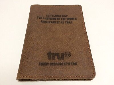 Real Leather Brown Passport Holder truTV