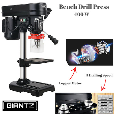 Electric 5 Speed Bench Drill Press Table Top Wood Metal Stone Drilling 400W NEW