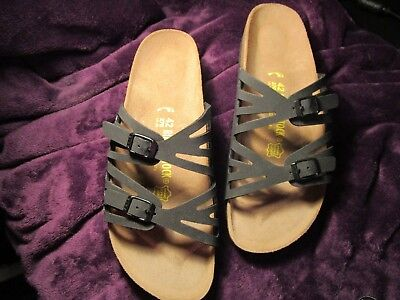 "Fantastic New Black Birkenstock Birki-buc ""Grenada"" Sandals Size 42 - M9 or W11"