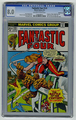 Fantastic Four #133 CGC 8.0 HIGH GRADE Double Cover Thundra vs Thing VINTAGE