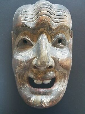 Large Wooden Japanese Mask (Buddist?) (woodcarving, wood carving)