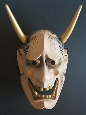 High End Wooden Japanese NohMask Hannya  (般若) (woodcarving, wood carving)