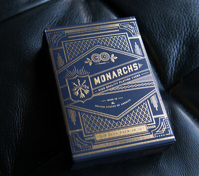 Theory 11 Blue Monarchs Playing Cards by USPCC • Four Pack / Sealed!