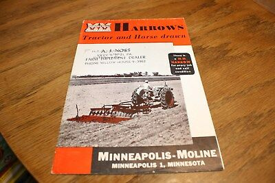 Vintage Minneapolis-Moline MM Harrows Tractor and Horse Drawn