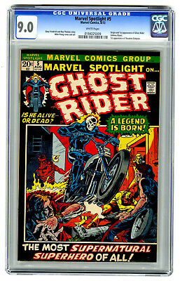 Marvel Spotlight #5 CGC 9.0 HIGH GRADE Marvel Comic 1st Ghost Rider MEGA KEY