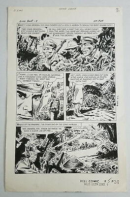 SAM GLANZMAN Original Comic Art TALES of the GREEN BERET #4 pg 28 War 1967