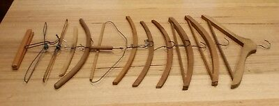Collectable Wooden Vintage Clothes Hangers 12