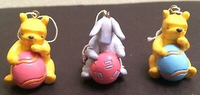 Set of 3 Retired Midwest of Cannon Falls Classic Pooh & Eeyore Easter Ornaments