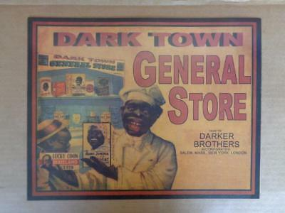 Black Americana Advertising General Store Grocery Store Display Sign