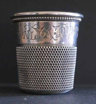 Antique Sterling Silver Thimble Jigger