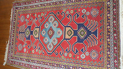 Antique Authentic 100% Wool Hand Made Vintage Persian Rug