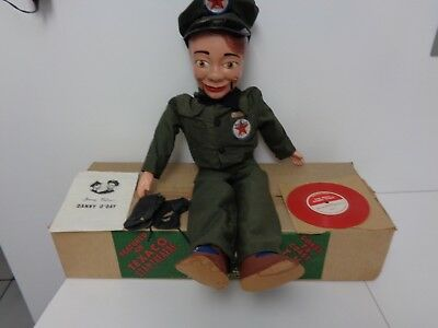 Texaco Oil Company Danny O'day Ventriloquist Doll National Mask & Puppet Boxed