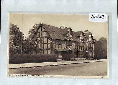 A5743cgt UK Shakespeare's House Stratford On Avon Photochrom vintage postcard
