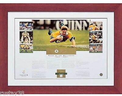 Pride Of The Wallabies Framed and Hand Signed Tim Horan limited edition print