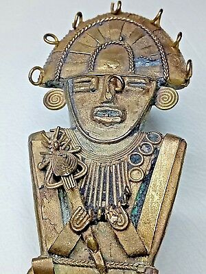 Antique pre Colombian Shamanistic havy Tumbaga gold Figurine