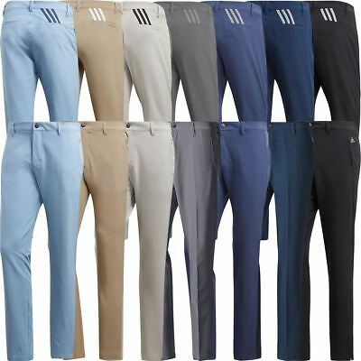 adidas Golf 2018 Ultimate 365 3-Stripe Trousers Stretch Mens Pant Tapered Leg