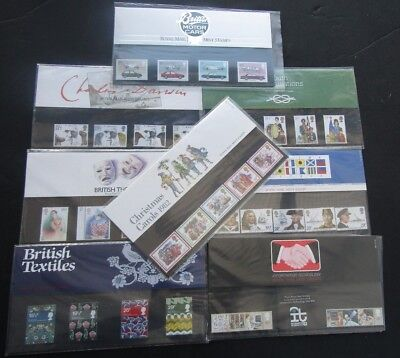 Gb - 1982 Complete Collection Of All 8 Commem Presentation Packs - High Face Val