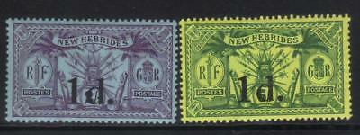 New Hebrides 1920-1921 Surch Sg32-33 Mh