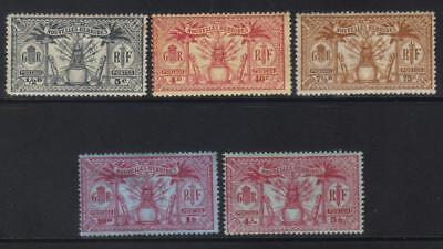New Hebrides 1925 French 5 Mh Values