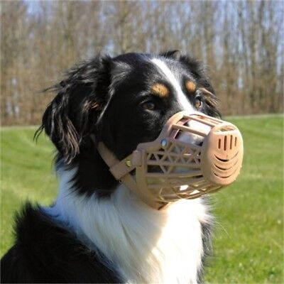 Trixie Muzzle Plastic - Dog Sizes Black Close Mesh Dogs Various