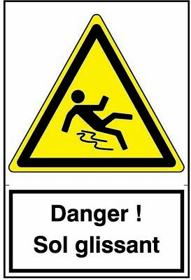 Danger! Sol Glissant - Safety Notice Warning Caution Danger Sign